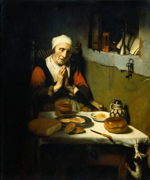 Nicolaes Maes Old Woman in Prayer