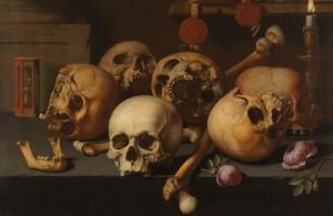 Skulls on a Table