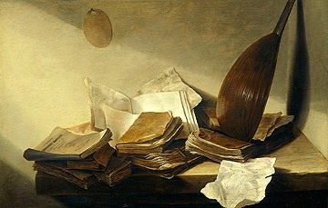 Still Life with Books Jan de Heem