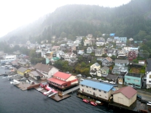 Leaving Ketchikan in the rain