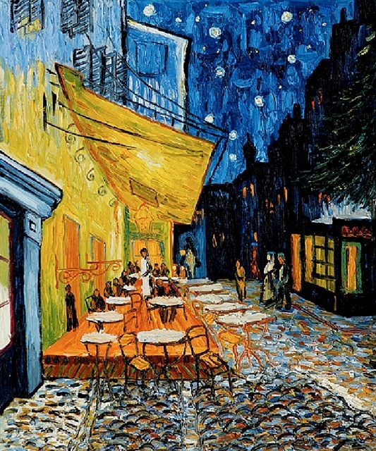 night cafe by vince van gogh Night cafe in the place lamartine in arles, the - vincent van gogh: 330 created in arles in september, 1888 find a print of this oil on canvas painting.