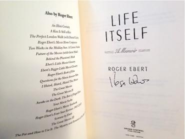 Roger Ebert autograph Life Itself