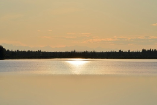 Muddy Sunset over Glenmore Reservoir