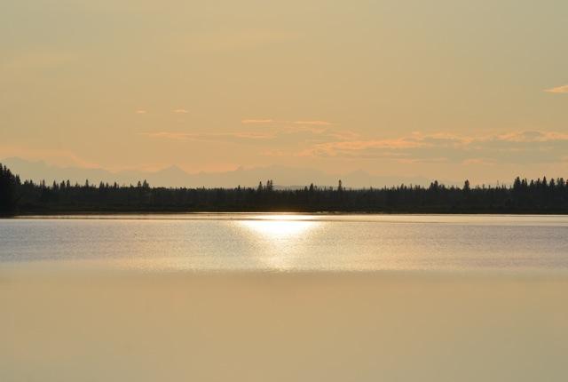 Muddy Sunset over Glenmore Reservoir