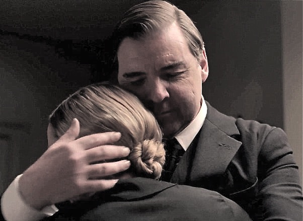 Bates and Anna embrace
