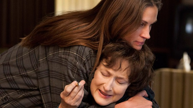 Streep and Roberts in August Osage County