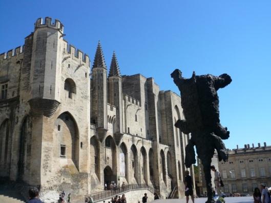 Elephant outside Palace of the Popes