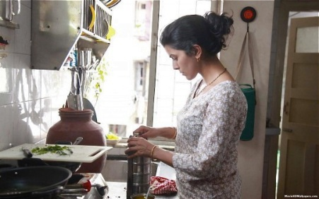 Ila prepares lunch