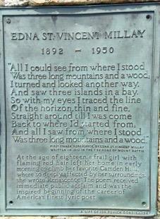 Edna St. Vincent Millay Plaque