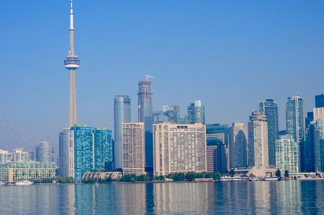 Hazy Toronto Morning